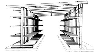rack-clad cantilever warehouse