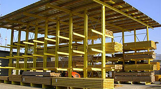 rack clad warehouse cantilever